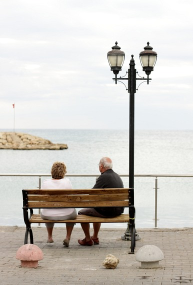 Two people at the seaside